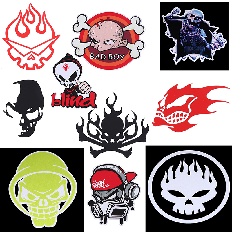 Compare Prices On Flaming Skull Decals For Motorcycles Online - Skull decals for motorcycles