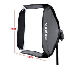 Profesyonel Godox 60 cm * 60 cm Ajustable Flaş Softbox + Flaş Speedlite Stüdyo için S tipi Braketi Dağı Kiti çekim