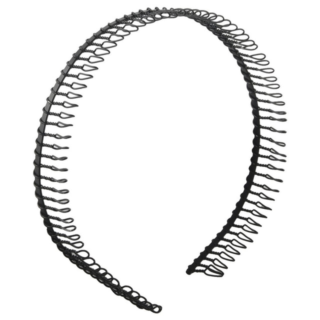 New Practical Black Metal Teeth Comb Hairband Hair Hoop Headband For Woman 30340ffa940