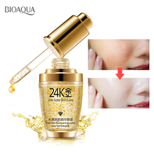 BIOAQUA 24K Gold Face Serum Moisturizer Essence Cream Whitening Day Creams Anti Aging Anti Wrinkle Firming lift Skin Care недорого
