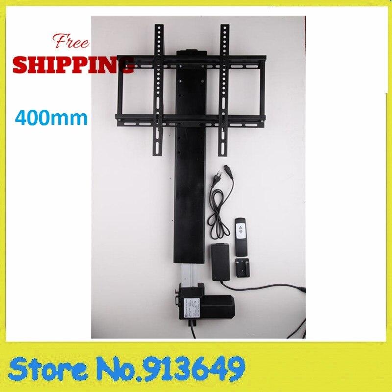 все цены на Free shipping motorized lcd TV Lift 12/24V DC 100kgs force 25mm/s speed 400mm stroke онлайн