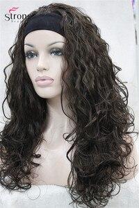 Image 3 - StrongBeauty длинный кудрявый черный коричневый блонд повязка на голову синтетический парик женские парики