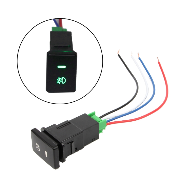 1pcs New DC12V Front Fog light Push Switch 4 Wire Button For Toyota Camry <font><b>Prius</b></font> Corolla Car Accessories image
