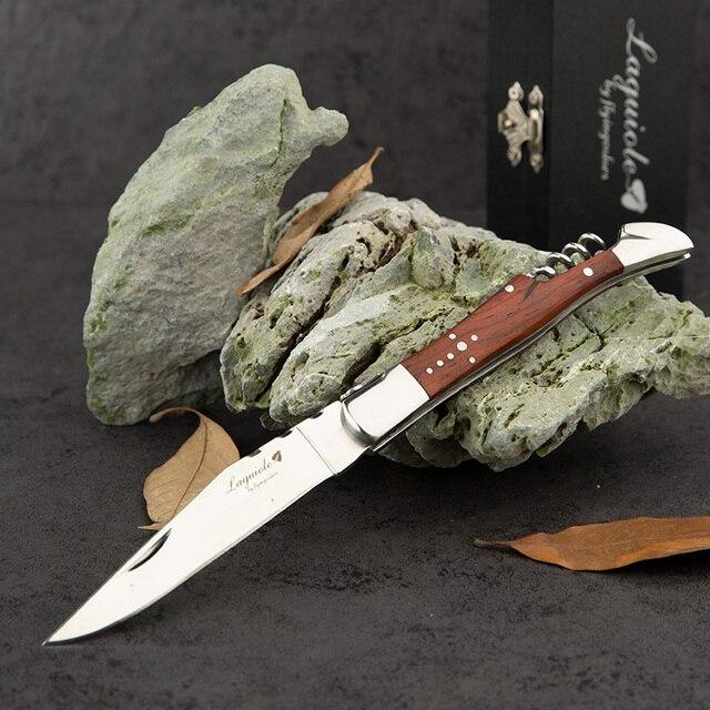 נירוסטה יין סכיני Laguiole חולץ פקקים בקבוק פותחני Porket סכין עץ ידית חתונה בירה יכול יין אביזרי מטבח