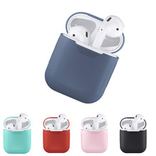 Bluetooth Wireless Earphone Case For AirPods Protective Cover Skin Accessories for Apple Airpods Charging Box Air pods Silicone for apple air pods charging box protective cover luxury crocodile pattern leather bluetooth wireless earphone case for airpods