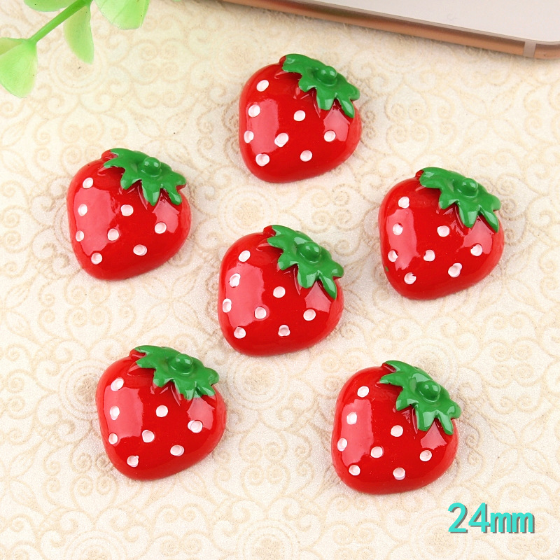Tibetan Silver Strawberry Charms 10 per pack Fruit