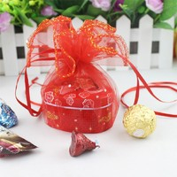 New Fashion 100pieces 12 16cm Organza Wedding Favor Bags Party Decoration Gift Candy Pouches High Quality