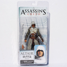 NECA Assassins Creed Figures Toy Assassin's Creed 1 Altair Player PVC Action Figure Toys 18cm Retail