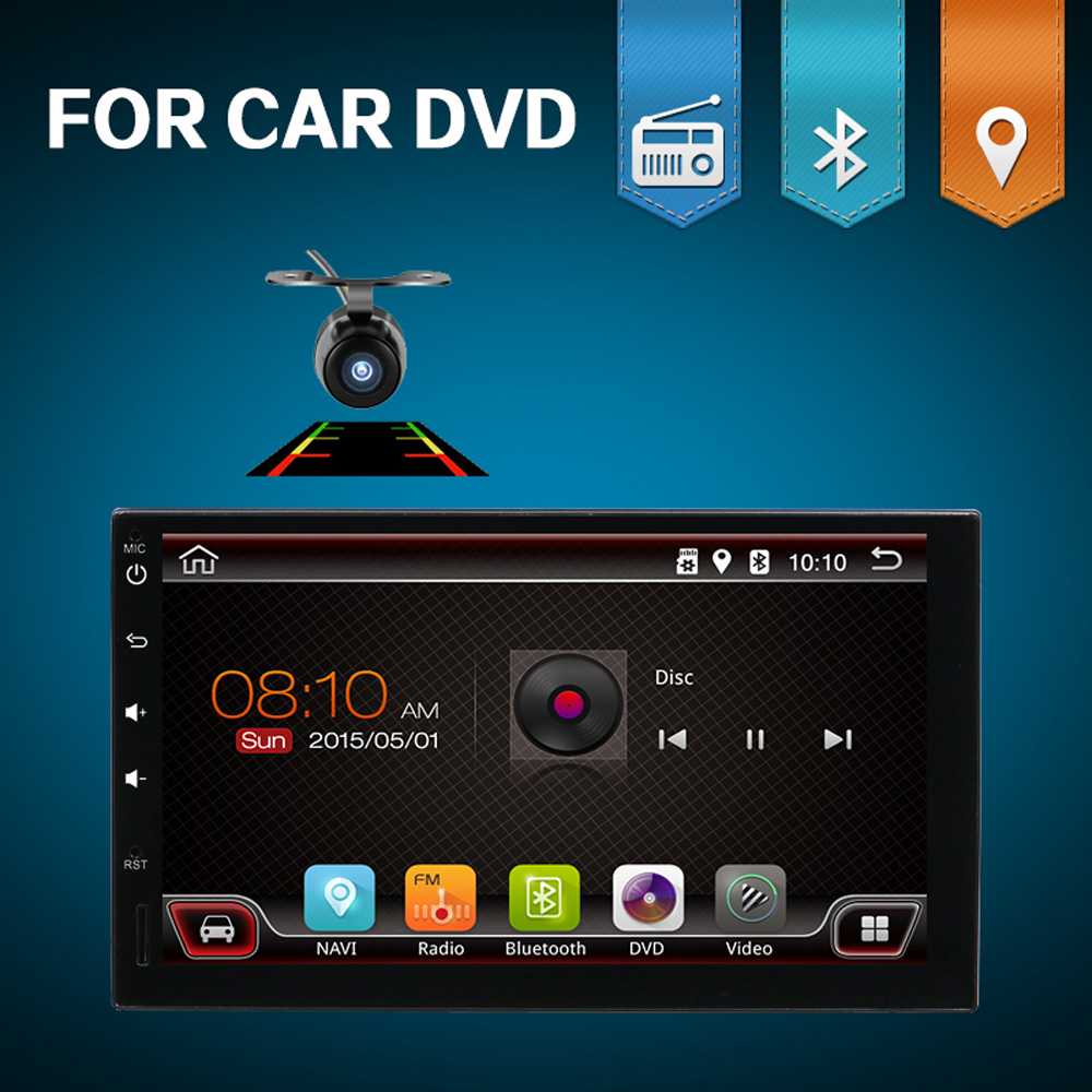 HD 1024*600 android 7.1 2din car dvd radio player for universal car gps navigation player autoradio WIFI BLUETOOTH 3/4G free cam 7 android 8 0 8octacore px5 4gram 32grom car no dvd radio 2din universal gps navigation stereo audio hd 1024 600 wifi bluetooth