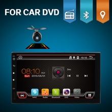 HD 1024*600 android 7,1 2din автомобильный dvd-радиоплеер для Универсальный Автомобильный GPS навигации игрока автомобильное радио Wi-Fi BLUETOOTH 3/4G Бесплатная cam