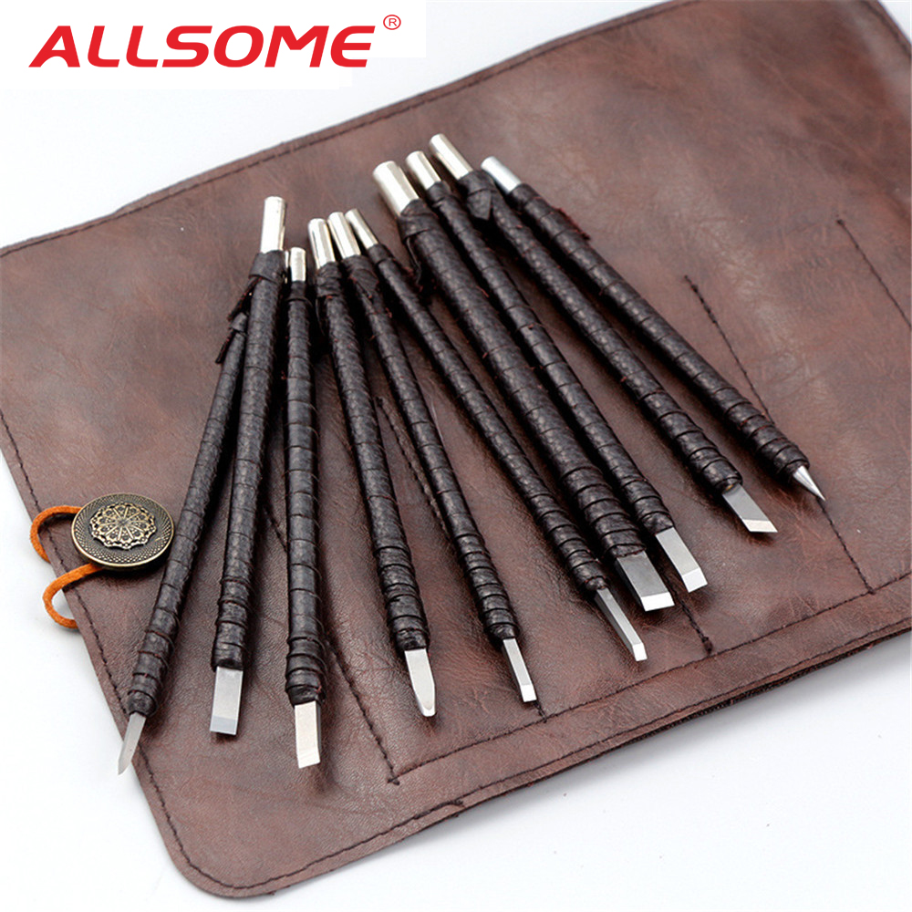 US $14 99 30% OFF|ALLSOME 10PC Carved Stone Knife Tungsten Carbide Steel  Carving Knife Chisel Craft Tools For Seal Engraving Stone Lettering-in  Knives