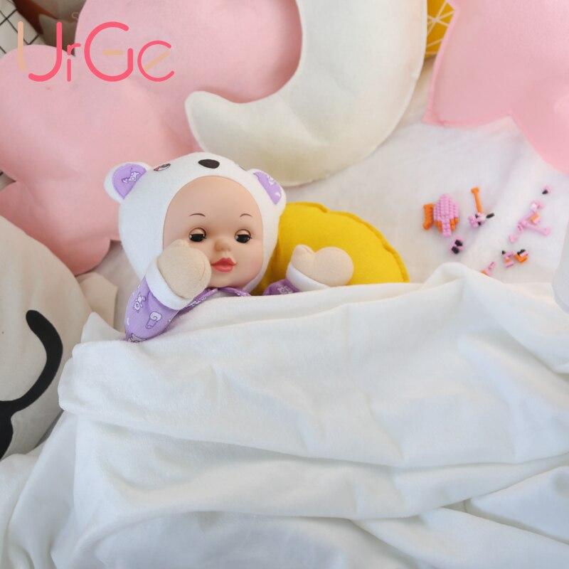kawaii bleu ours en peluche en peluche dessin animé enfants jouets pour enfants dormir poupée bébé jouet apaiser poupées cadeau de Noël