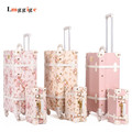 "20""22""24""26""inch Vintage Trolley Luggage,PU Leather Suitcase Travel bag,Women universal wheels Carrier ,High quality Carry-Ons,"