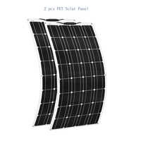 2pcs 12V 100W Flexible Solar Panel Charger 24v Mono 200w Solpanel Lightweight Connector Charging RV Boat Cabin Tent Car china