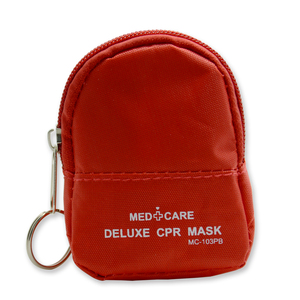 Image 3 - 10 Pieces CPR Rescue Mask Keychain First Aid Kits CPR One way Valve Mask Swabs And Gloves For CPR First Aid Training