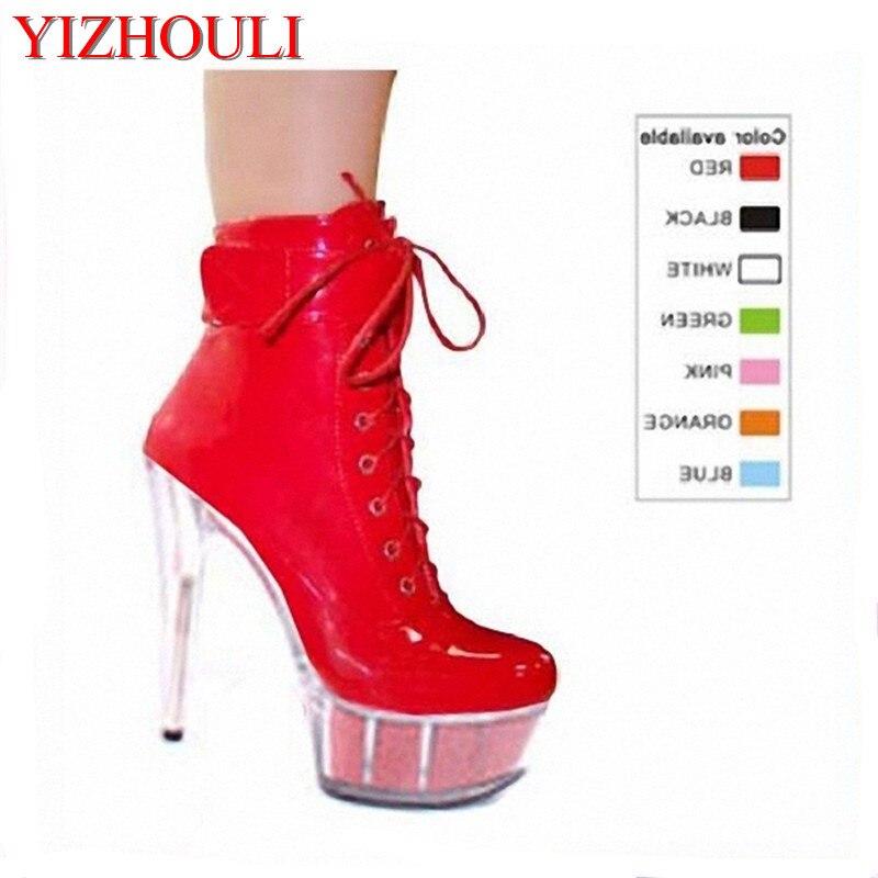 Modèle Chaussures Tou Achat Cm Robe Talons Ultra Bottes Lumière Paquet Props Soirée 15 Haute Artificiels Avec Pu Discothèque vHZxHUq