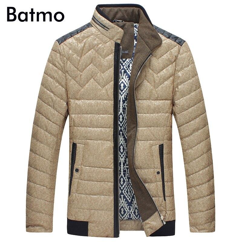 Batmo 2017 new arrival winter high quality 80% white duck down khaki jacket men,winter warm coat men 8710
