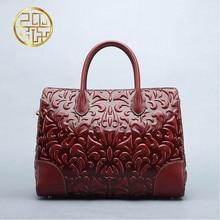 Genuine Leather women bag  Pmsix New China wind embossed leather handbag Fashion retro Messenger bag Killer bag