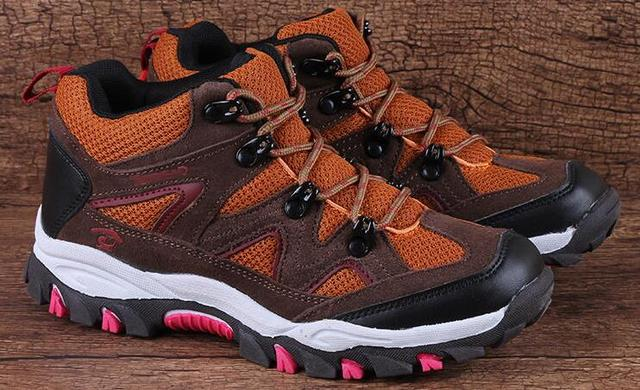 wallvell Foreign trade outdoor children 's boots warm leather children' s sports shoes boys and girls walking hiking shoes