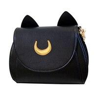 Fashion Cute Design Black White Cat Luna Moon Women Messenger Crossbody Bag Sailor Moon Bag Ladies