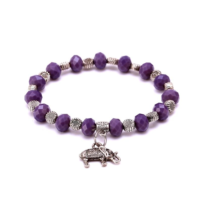 4c3cf2d9861f J Store al por mayor caliente 6 colores Crystal aleación Cuentas pulsera  encanto para las mujeres regalo pulseras elásticas Brazaletes pulseira  femininas