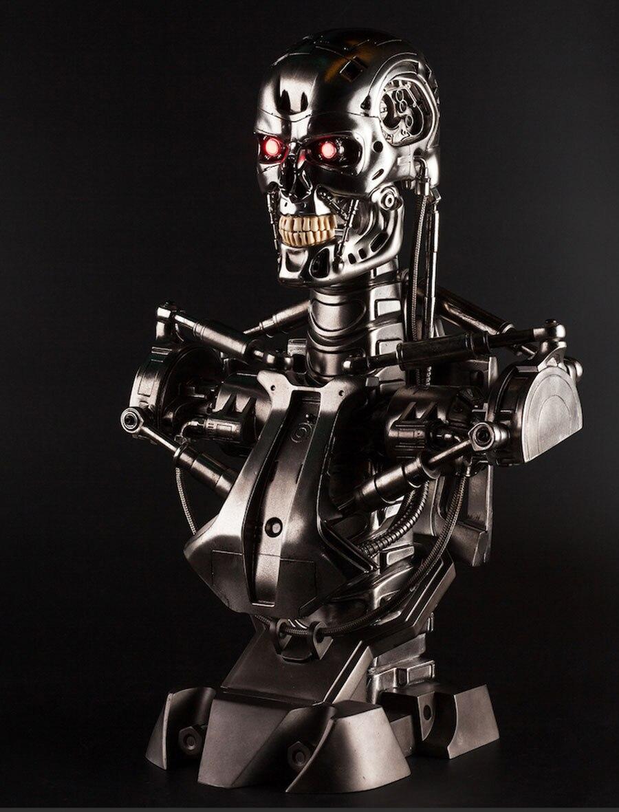 Реплика OGRM из смолы Terminator T800, статуя бюста, 1:1, весы, эндоскоп, размер бюста, фигурка LED, глаз, лучшее качество, T-800