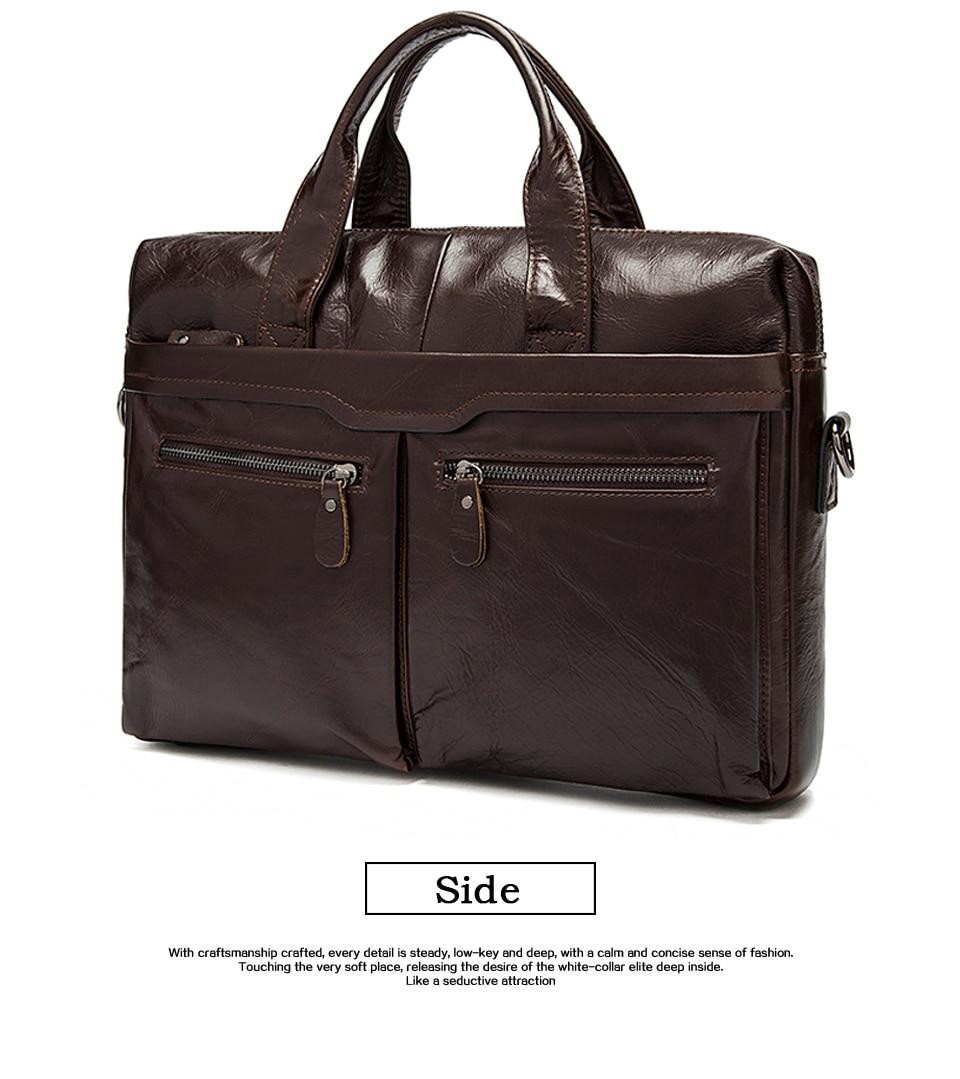 HTB1WKEDbjDuK1Rjy1zjq6zraFXaR WESTAL genuine leather bag for men's briefcase bussiness laptop bags for documents messenger handbags tote briefcase 9005