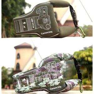 Image 2 - كاميرا مقاومة للماء حقيبة تخزين عدسة حقيبة حقيبة للصدمات المحمولة الحقيبة كم لكانون نيكون DSLR 90D 7D مارك II D5600 حلقة تسلق