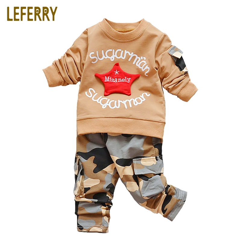 Camouflage Kids Clothes Boys Set Baby Girls Clothing Set Fashion Toddler Boy Clothing Children Clothing Sport Suits 2018 Autumn