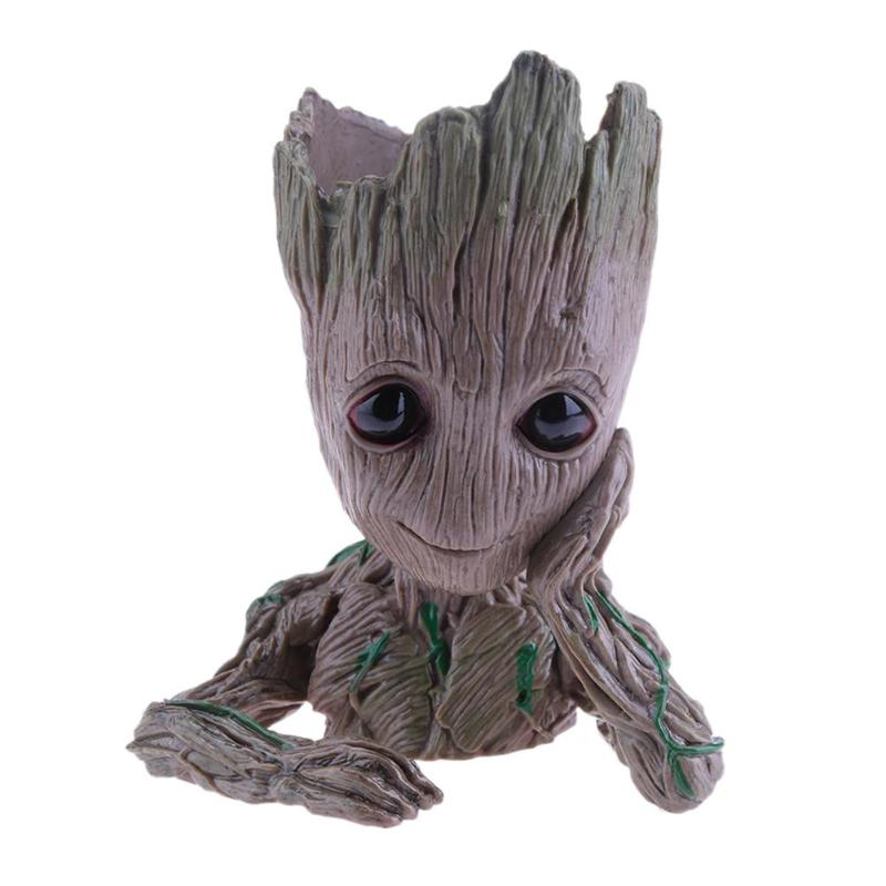 Cute Baby Groot Flower Pot with Small Hole to Drain the Inside Water Suitable for Home Decor 2