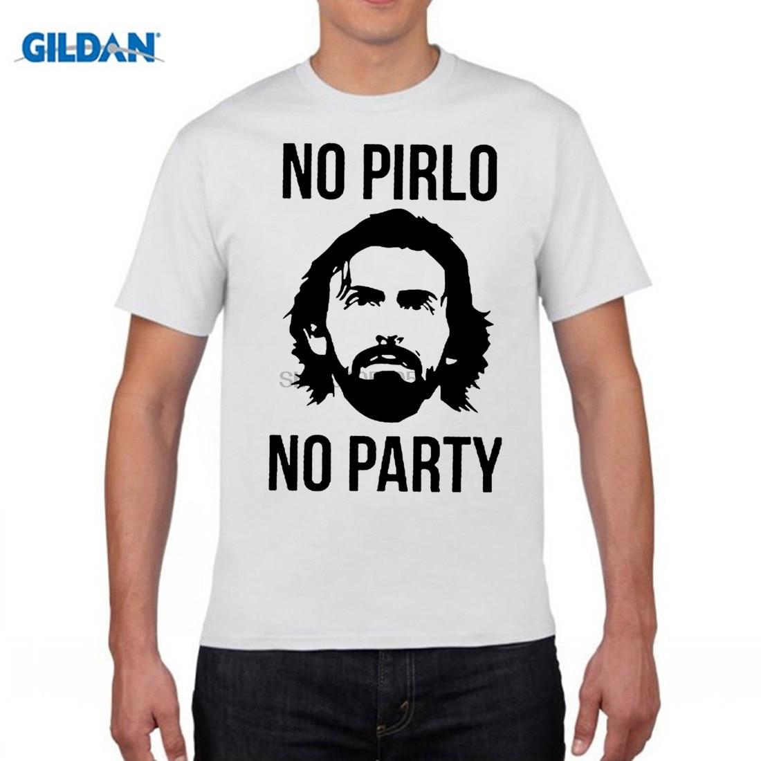 GILDAN funny men t shirt New Fashion Mens T shirts Andrea Pirlo cool Milan Serie A Italiana Italy Tees Cotton Clothing