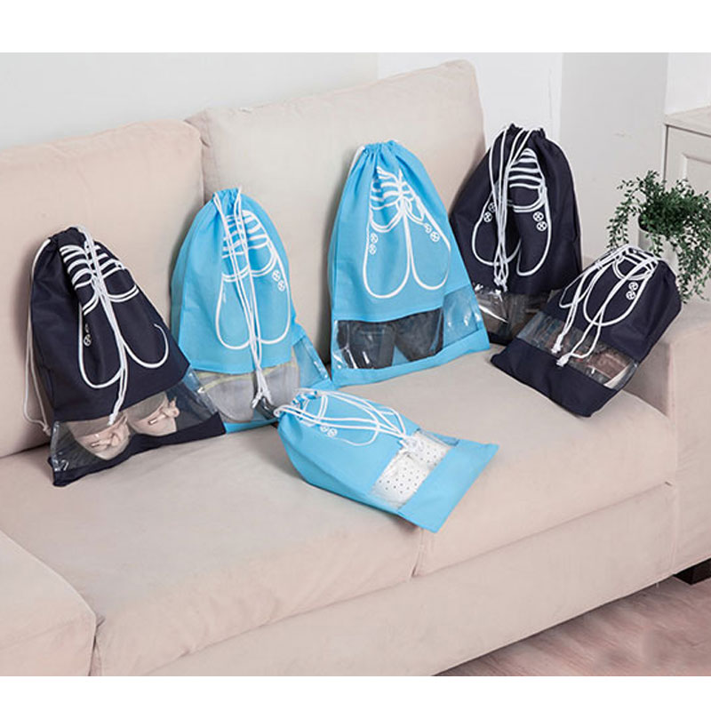 Cheap Practical Drawstring Bags For Shoes Unisex Non-woven Fabric Shoes Drawstring Pouches Travel Dustproof Bags
