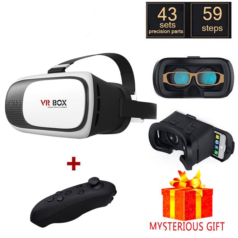 Vr 2.0 2 II 3D коробка шлем 3 D виртуальной реальности Очки очки гарнитура шлем для смартфонов смартфон люнет google cardboard