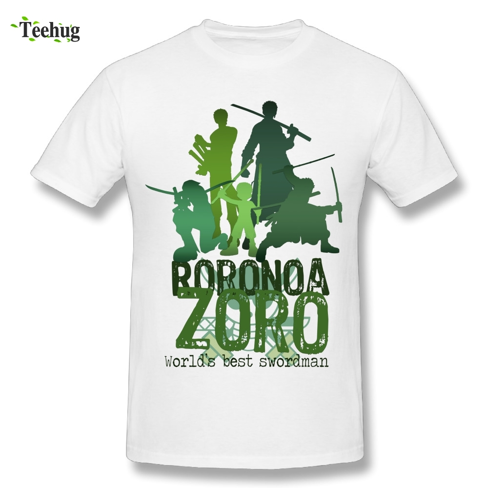 Quality Men Roronoa Zoro One Piece Words Summer T-shirt Custom Cotton Stylish T Shirt