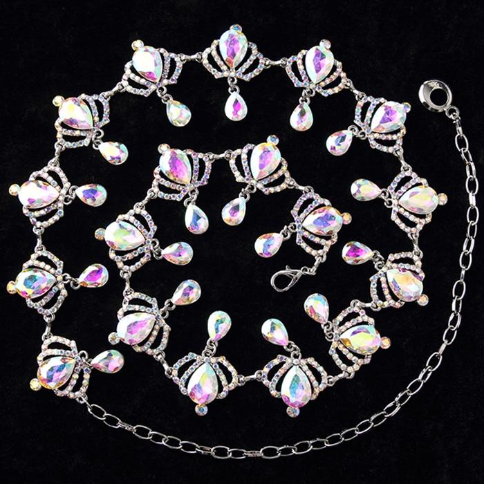 e04da48a334a 2018 nuevo disfraz de Bellydance cinturón de danza del vientre Cadena de  diamantes decoración de mujer diamante todo-fósforo