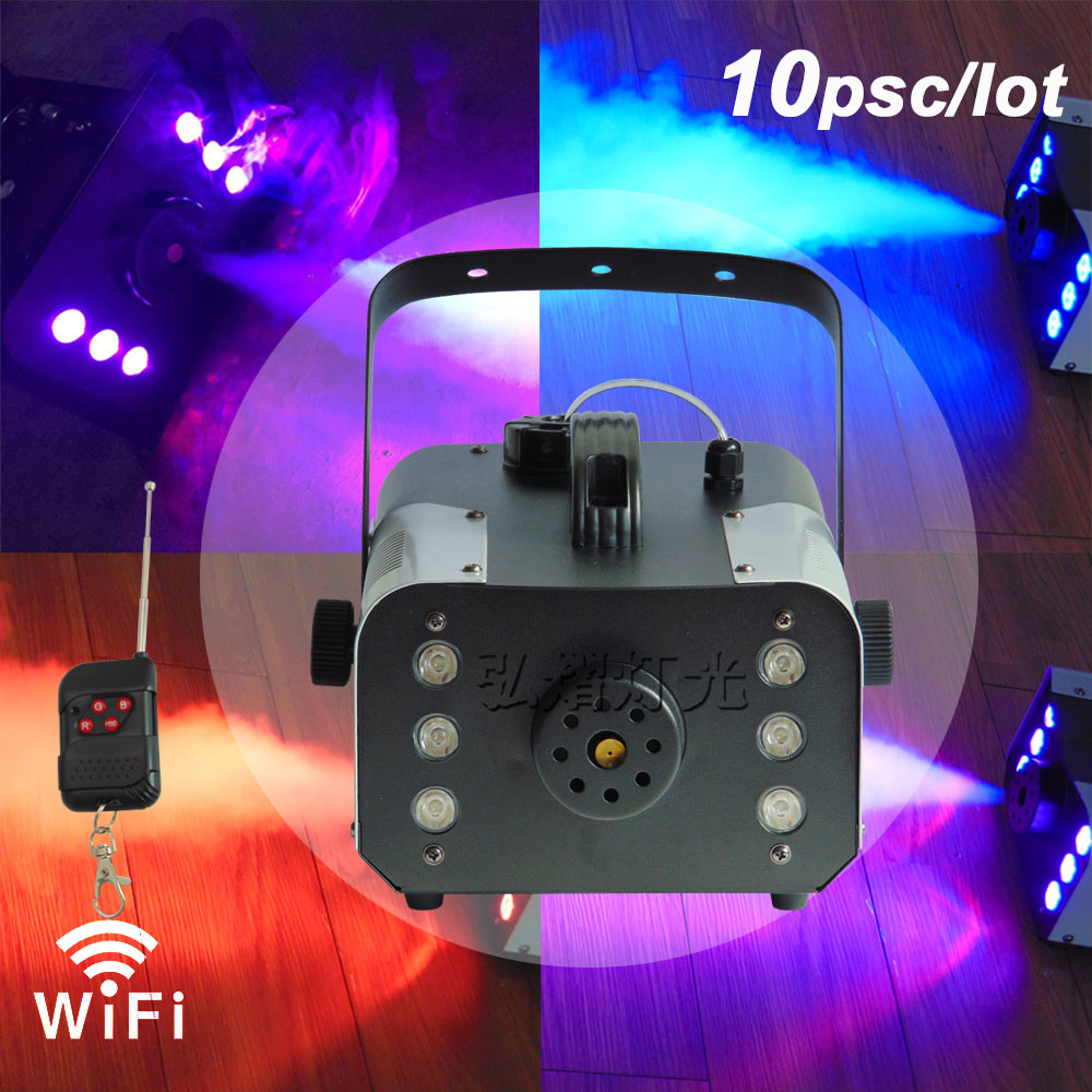 10lots 900W RGB Wireless remote control fog machine pump dj disco smoke machine for party wedding Christmas stage fogger machine niugul best quality 900w fog machine 900w smoke machine stage special disco effects dj equipment fogger for ktv xmas home party