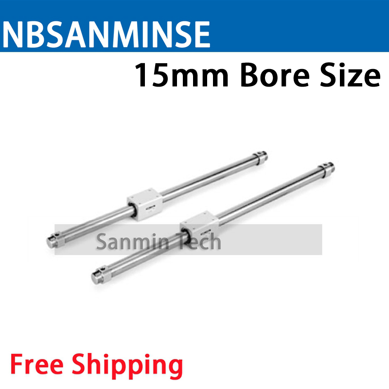 NBSANMINSE CY3B 15mm Magnetically Coupled Rodless Basic Type SMC Cylinder Pneumatic Parts For Printer Automation Package MachineNBSANMINSE CY3B 15mm Magnetically Coupled Rodless Basic Type SMC Cylinder Pneumatic Parts For Printer Automation Package Machine