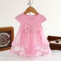 Newborn baby girl dress summer cotton ribbon bow dresses for girls bodysuit princess jumpsuit kids infant.jpg 200x200
