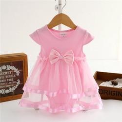 Newborn baby girl dress summer cotton ribbon bow dresses for girls bodysuit princess jumpsuit kids infant.jpg 250x250