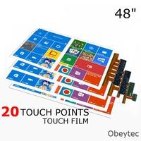Бесплатная доставка 48 металлические сетки Прогнозируемый емкостный сенсорный экран пленка 20 точек касания выше чувствительный емкостный