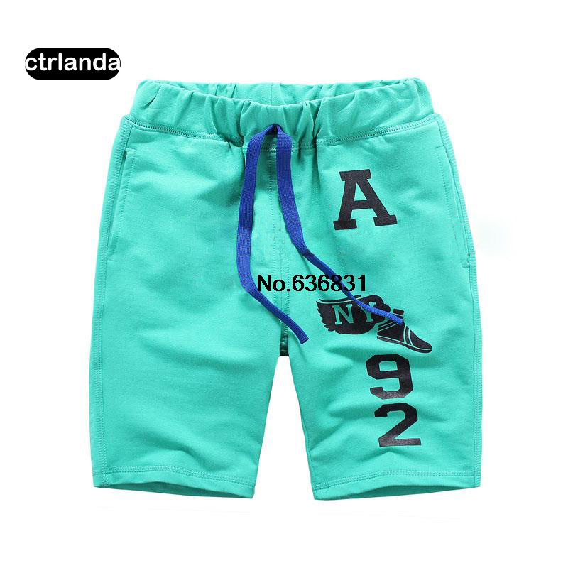 Summer children clothes baby boy shorts letter character Cotton toddler Kids brand Shorts school student boys