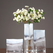 Modern translucent glass vase ornaments terrarium flower vases Crafts jarrones decorativos moderno home wedding decoration