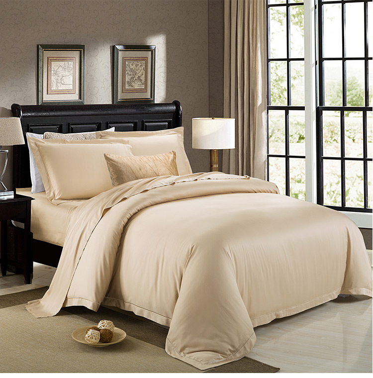 Charming 100% Bamboo Bactericidal Eco Friendly Kiing Queen Size Ivory Silvery Kaqi  Colors Flat Sheet Duvet Cover 4 Pieces Set On Sale In Bedding Sets From  Home ...