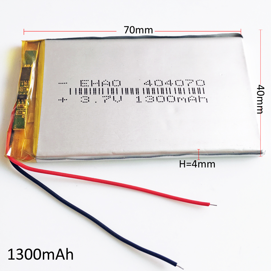 3.7V 1300mAh Lithium Polymer Li-po lipo Rechargeable Battery For E-books power bank Tablet PC Laptop GPS <font><b>404070</b></font> image