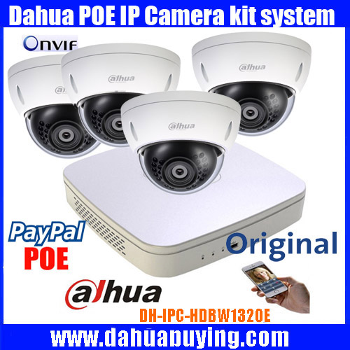 Original dahua P2P 1080P CCTV Camera System 4CH NVR4104 P Outdoor HD Infrared Security Camera Home