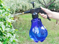 Free shipping 1.5L Transparent Colored Portable Chemical Pressure Sprayer Sprinkler For Garden Plant Watering