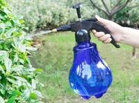 Gratis verzending 1.5l transparent gekleurde draagbare chemische drukspuit sprinkler voor tuin plant watering