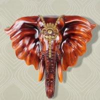 Скульптура из смолы слона, настенная подвесная статуя, украшение для рукоделия, гостиничная гостиная, бар, декоративный орнамент, произведе