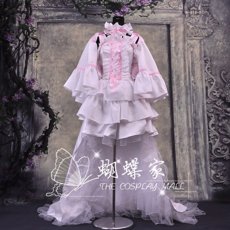 New Chobits Chii ' s  Cosplay Costume Dress Pink with  White  from Chobittsu chobits cosplay woman party dress