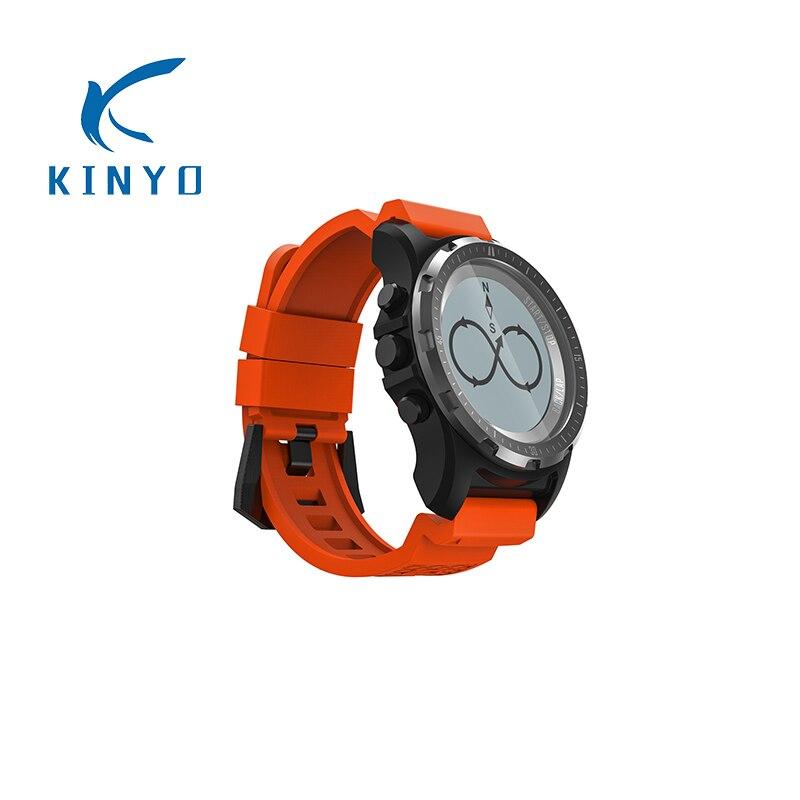 цена KINYO unique GPS sports watch Heart Rate monitor health tracker intelligent watch hiking running sports watch S966 pk mi band 3